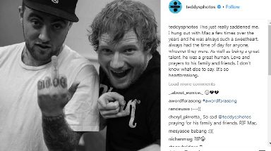 'It's so heartbreaking': Ed Sheeran pays tribute to Mac Miller.