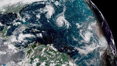 Hurricane Florence heading to US coast.