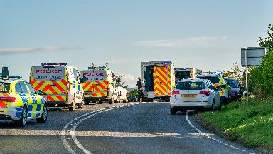 Moray: Emergency services at the scene.