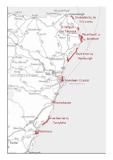 The floodline service now includes almost the whole of the east coast of Scotland.