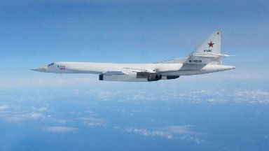 Blackjack: Russian bombers regularly fly near UK airspace (file pic).