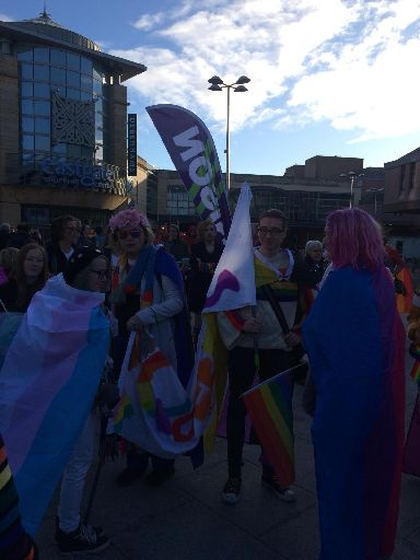 Pride: Thousands gathered in Inverness.