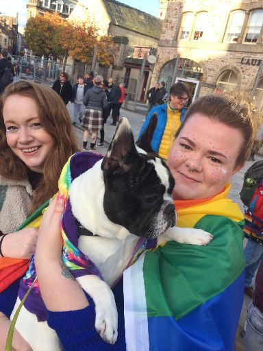 Pride: Some brought pets to take part.