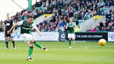 Stunner: Stevie Mallan has made a habit of scoring from range for Hibs.