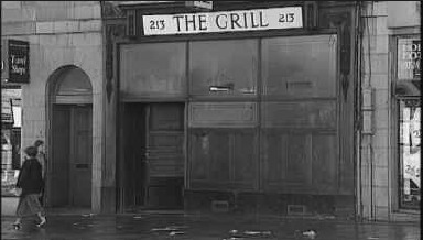 The Grill: Was a men's only bar.