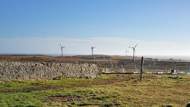 Three wind turbines have been installed.