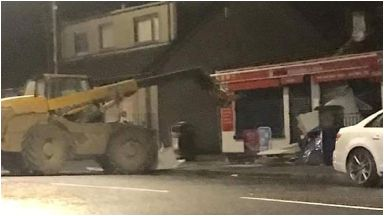 ATM theft: Digger left at scene.
