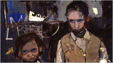 Painting: Margaret and her brother grew up in Glasgow.