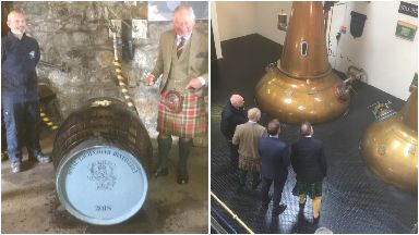 Tour: Charles was asked to fill a new cask.