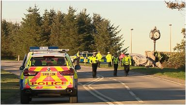 Crash: The collision took place around 3pm on Saturday