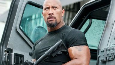 Hobbs: The Rock ready for action.