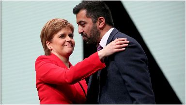 Horror: Sturgeon and Yousaf have spoke out against the US shooting.