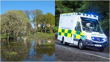 Seaton Park: Big emergency response.