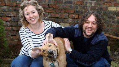 Rescue dog: Fiona MacFarlane got Charlie six years ago.