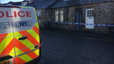 Cambusbarron: House has been cordoned off.