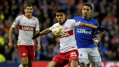 Draw: Spartak Moscow and Rangers played out a 0-0 draw at Ibrox.