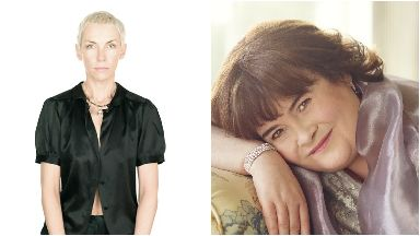 Legends: Annie Lennox and Susan Boyle will be inducted into the Scottish Music Hall of Fame.