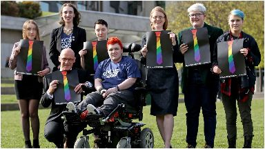 Success: Campaigners from the Time for Inclusive Education (Tie) group.