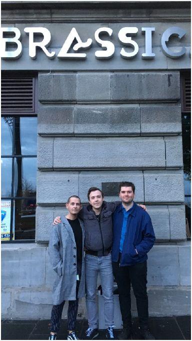 Solidarity: Paul Burk, Dan Docherty and Scott McGivney.