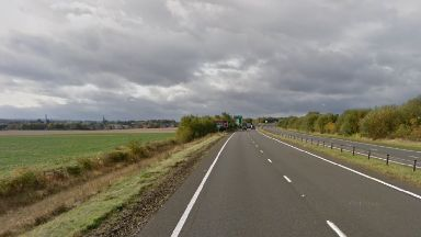 Closed: A1 was closed after a serious accident by the police.