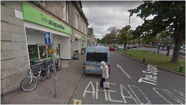 Hit-and-run: The pensioner was struck by a care along The Square.