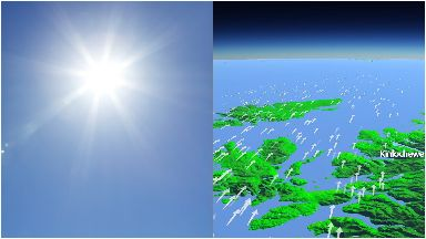 Warm: Temperatures are to break records.