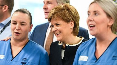Nicola Sturgeon says the UK Government could 'sell off' the NHS.