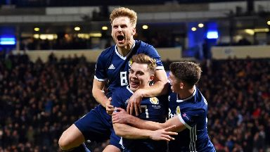 Scotland: Face clash with England if they qualify.
