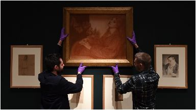 Rossetti: The drawing has not been exhibited in 150 years.