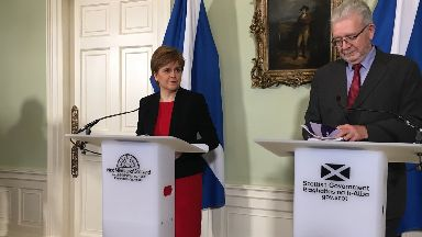 Nicola Sturgeon: First Minister delivered a speech at Bute House.