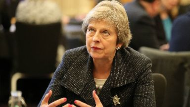 Tour: The PM visited Belfast on Tuesday.