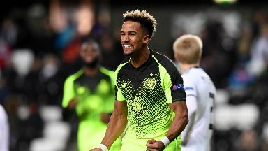 Winner: Scott Sinclair scored a crucial header for Celtic in Trondheim.