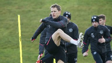 Return: Christophe Berra is ready for Hearts' match against Rangers.