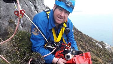 Meg: Was rescued after getting stranded on a cliff face.