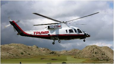 Balmedie: Trump flies over the course.