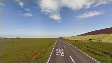 Orkney: One car was involved in the crash.