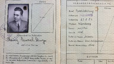 Passport: Henry's documents carried with him on his journey.