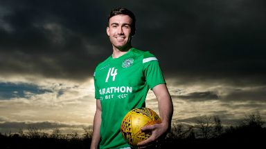 Star: Mallan has impressed since joining Hibs in the summer.