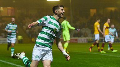 Opener: Ryan Christie opened the scoring for Celtic against Motherwell on Wednesday.
