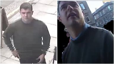Appeal: Officers want to speak to the man in the pictures.