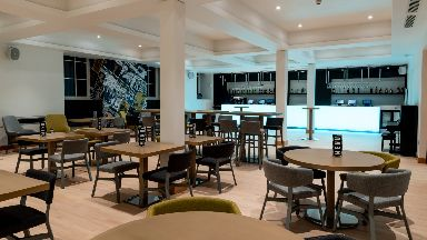 New look: Bar and restaurant.