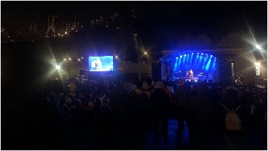 Sleep in the park: Amy Macdonald performed.