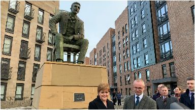 Statue: First Minister Nicola Sturgeon at the grand unveiling.