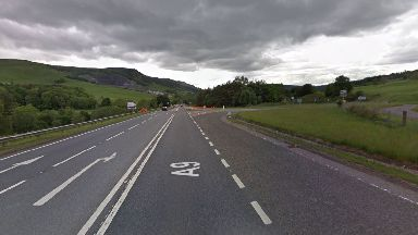 Fatal: The accident happened on the A9 outside of Blair Atholl.