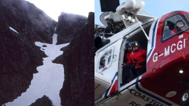 Ben Nevis: He was recovered by the coastguard helicopter.