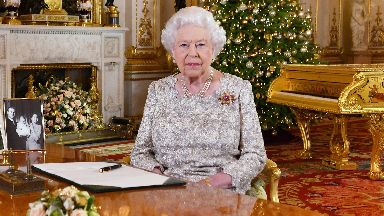 Message: The broadcast was recorded in Buckingham Palace's White Drawing Room.