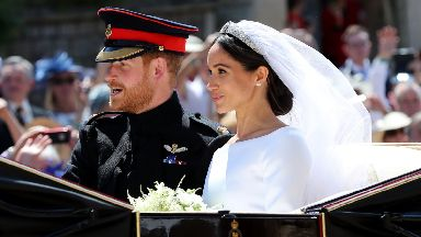 Wedding: Harry and Meghan on their big day.