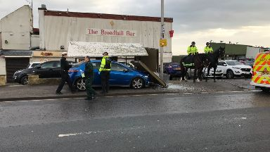 Aberdeen: The crash happened outside The Broadhill Bar opposite Pittodrie Stadium.