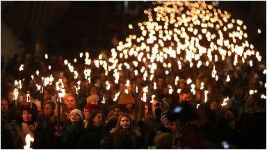 Hogmanay: The procession kicks of celebrations.