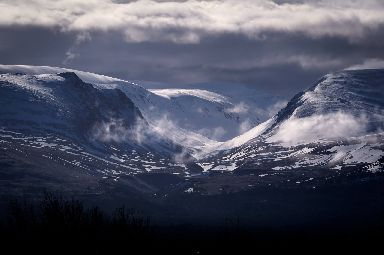 The Lairig Ghru from Aviemore.